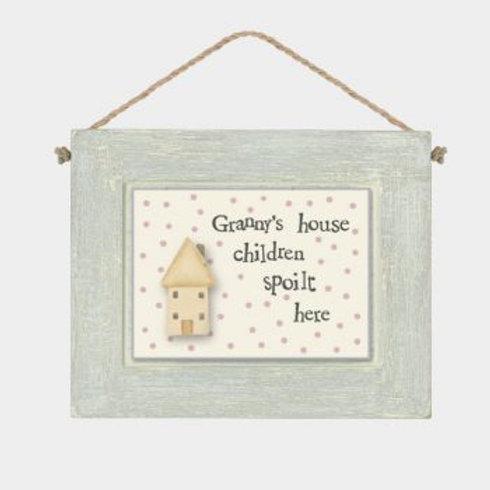 Granny's House... Wooden Hanger