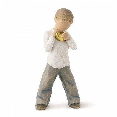 Heart of Gold (Boy) Willow Tree Figurine