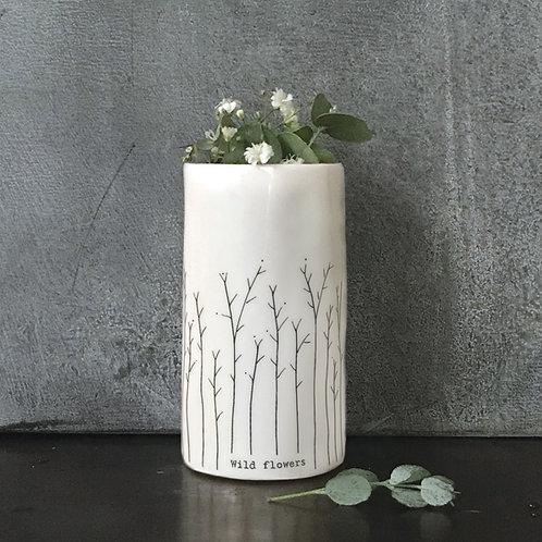 East of India Porcelain Vase - Wild Flowers