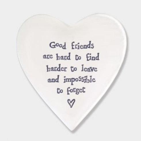 Good friends... Heart Coaster