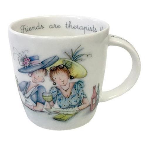 Friends are therapists mug
