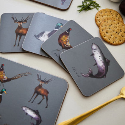 Katie Cardew Country Estate Set of 4 Coasters