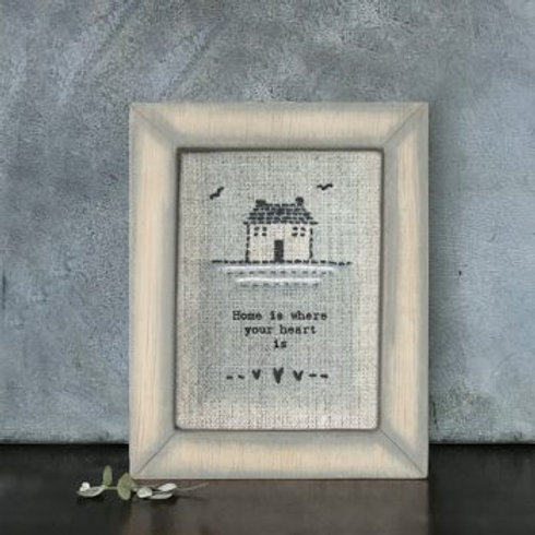 Home is where... Embroidered Picture