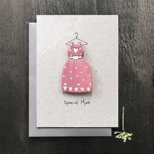 East of India Wood Card - Special Mum