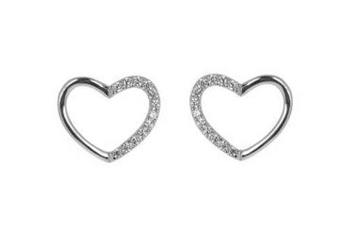 Espree London Open Heart Sterling Silver Earrings