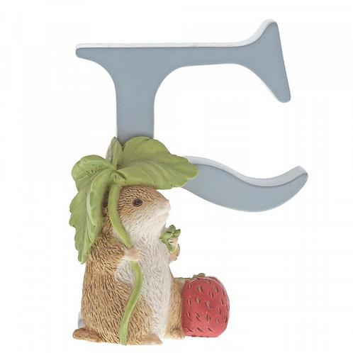 Beatrix Potter Ceramic Letters - Letter F