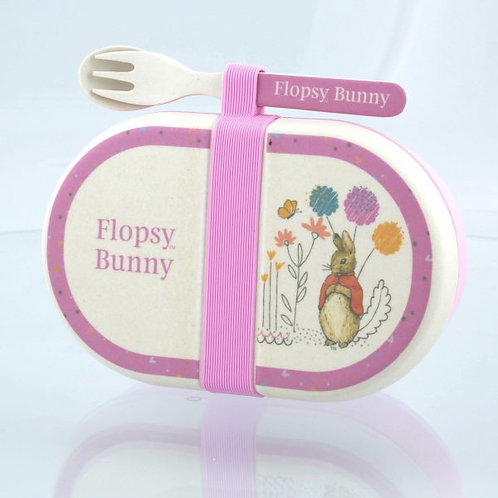 Flopsy Organic Snack Box and Cutlery Set