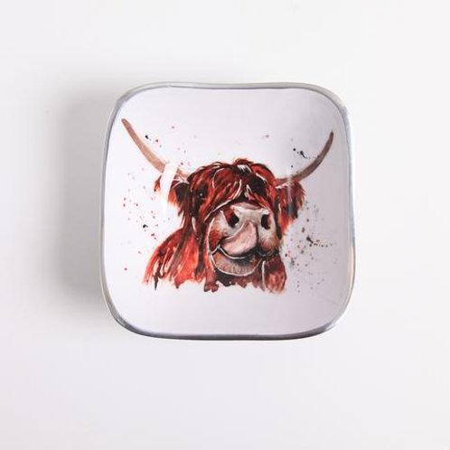 Tilnar Art Highland Cow Square Bowl