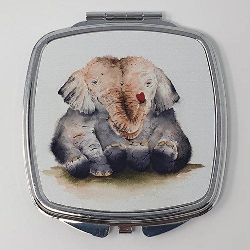 Elephant Hugs Mirror Compact