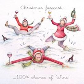 Berni Parker Christmas Forecast Card