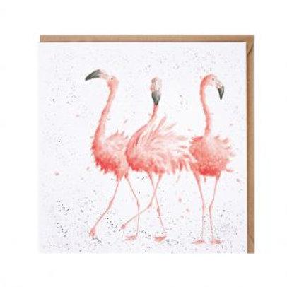 Flamingo Wrendale Card