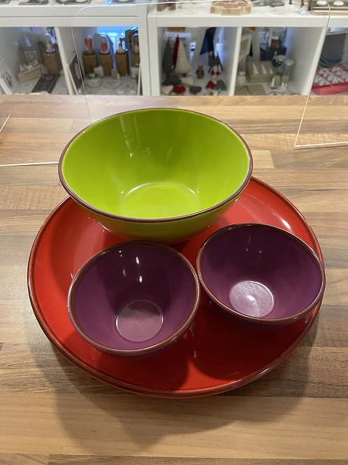 Terracotta Garden Bowl Set