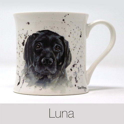 Bree Merryn Luna the Black Labrador Mug