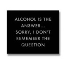 Hills Interiors Alcohol is the answer Metalic Detail Plaque