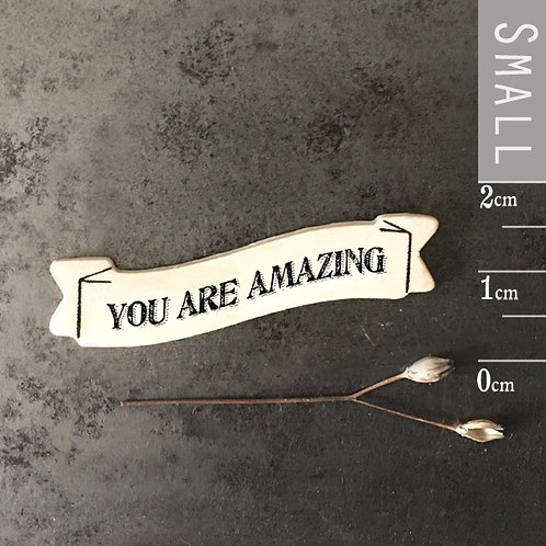 East of India Ribbon word magnet - You are amazing