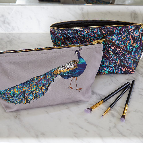 Katie Cardew Peacock Cosmetic Bag