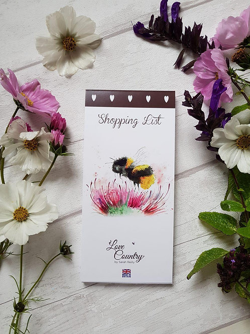 Love Country Thistle and Bee Magnetic Shopping Pad