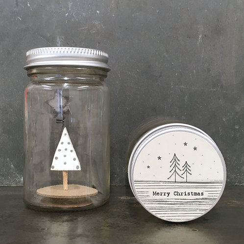 East of India World in a jar - Merry Christmas