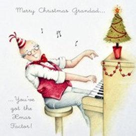 Berni Parker Merry Christmas Grandad Card
