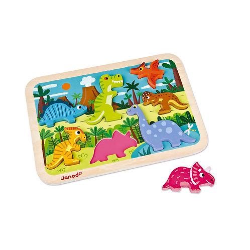 Janod Dinosaur Chunky Puzzle