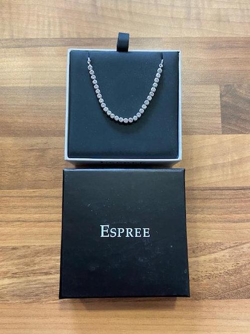 Epsree London Rhodium Tennis Toggle Bracelet