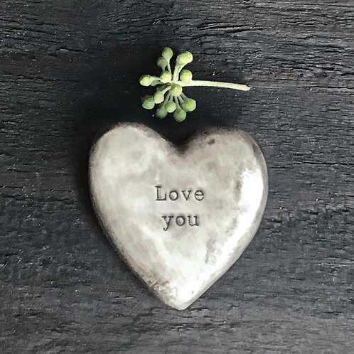 East of India Love you Heart Token