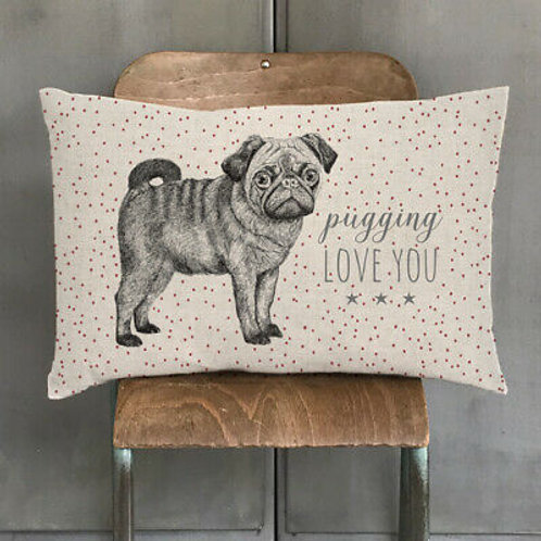 Pugging love you Cushion