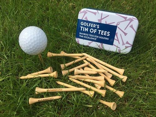 Golfers Tin of Tees
