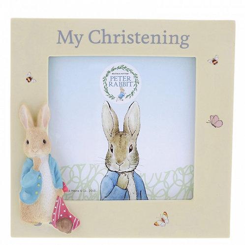Peter Rabbit My Christening Photo Frame