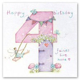 Happy Birthday... Fairies live here... 4 Berni Parker Card