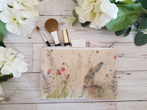 Love Country Spring is Hare Cosmetic Bag