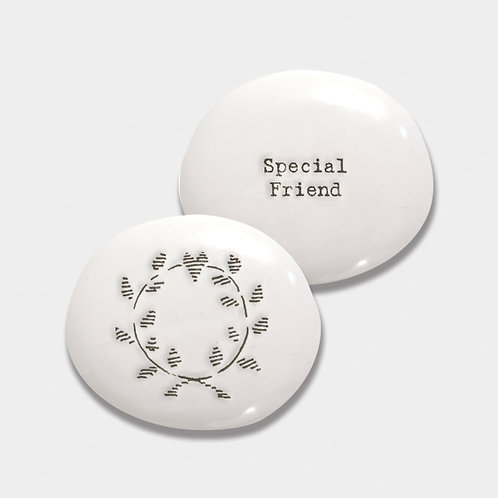 East of India Special Friend Porcelain Pebble