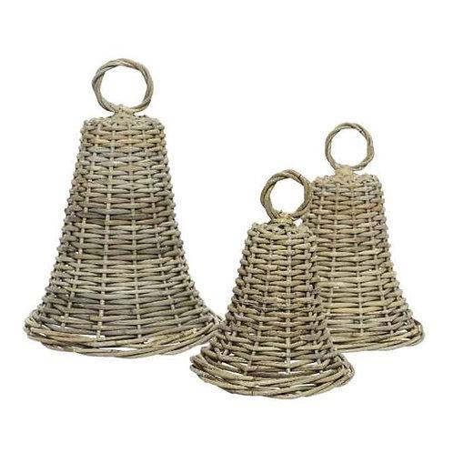 Wicker Decorative Bells -3 sizes