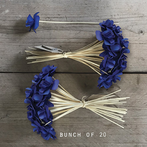 East of India Bunch of Flowers - Blue
