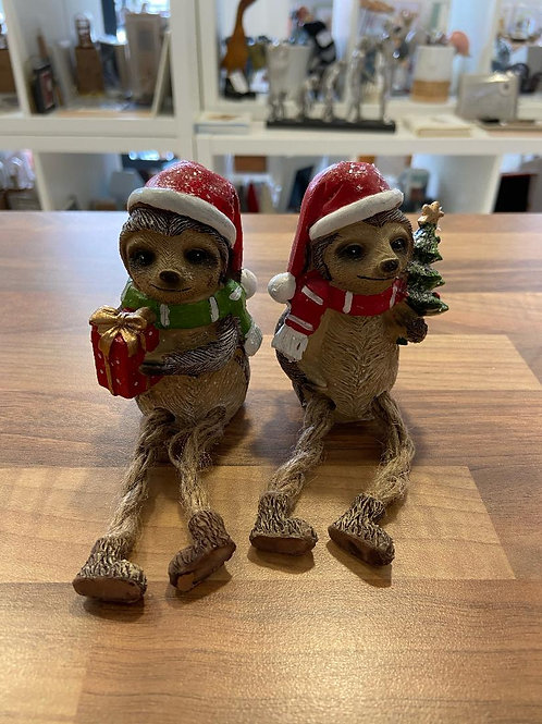 Christmas Sloths with Dangling Legs - Various Designs