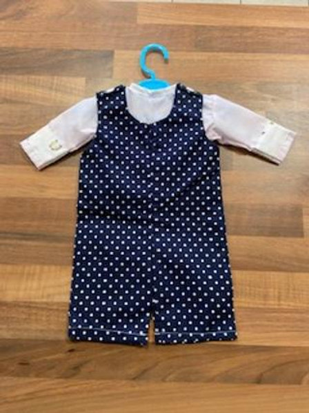 Navy Polka Dot Dolly Dungarees