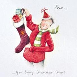 Berni Parker Son - You bring Christmas cheer Card