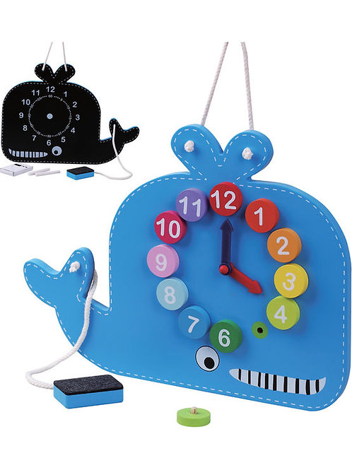 Jumini Whale Clock and Blackboard