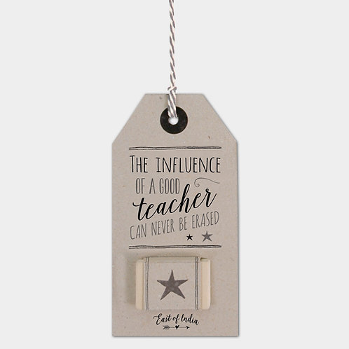 East of India Rubber - Influence of a good teacher
