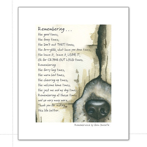 The Little Dog Laughed Remembrance Dog Print