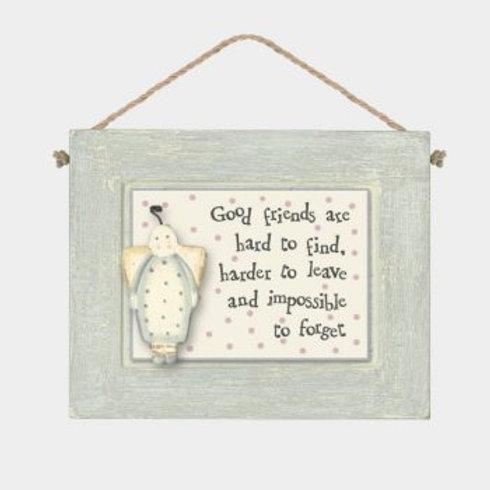 Good Friends... Wooden Hanger