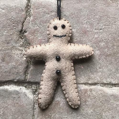 East of India Felt Hanging Gingerbread man