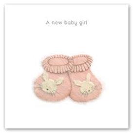 A new baby girl Berni Parker Card