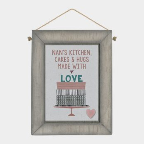 Nan's Kitchen... Wooden Hanger