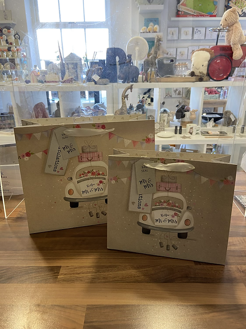 Mr and Mrs Gift Bag - Various Sizes