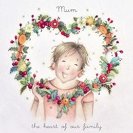 Berni Parker Mum, the heart of our family Card
