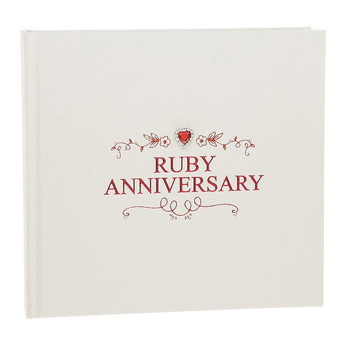Ruby Anniversary Jewel Photo Album