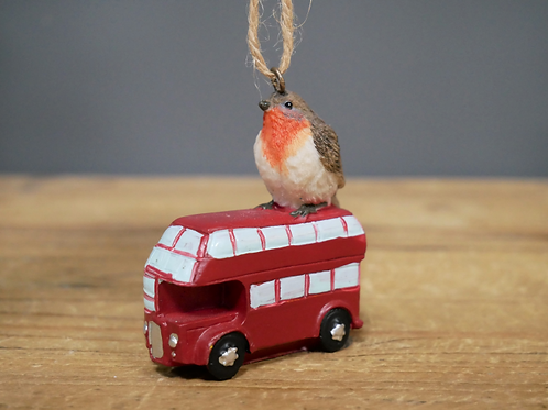 Robin on a Bus - Decoration