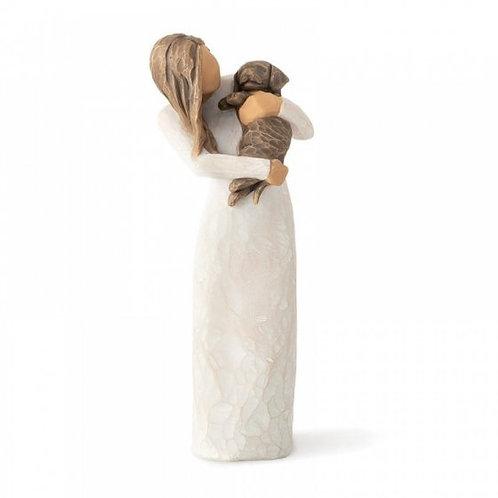 Adorable You (Dark Dog) Willow Tree Figurine