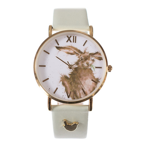 Wrendale 'Hare Brained' Leather Strap Watch